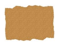 Documento della sabbia strappato Immagini Stock
