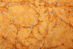 Documento di arte handmade arancione con il disegno floreale fotografie stock libere da diritti