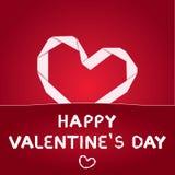 Documento di giorno del biglietto di S. Valentino di vettore Fotografie Stock Libere da Diritti