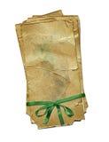 Documento di Grunge con l'arco verde per il disegno Fotografia Stock Libera da Diritti