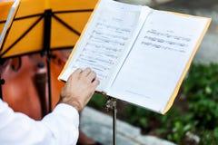 Documento di musica Fotografie Stock
