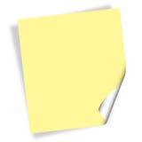 Documento di nota Fotografia Stock