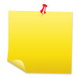 Documento di nota in bianco Fotografia Stock