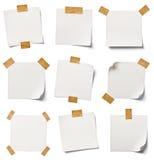 Documento di nota bianco fotografia stock libera da diritti