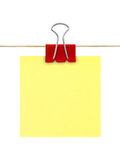 Documento di nota giallo del post-it fotografia stock libera da diritti