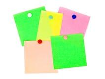 Documento di nota multicolore Fotografia Stock