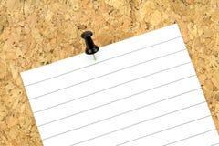 Documento di nota sulla scheda del sughero Immagine Stock Libera da Diritti