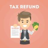 Documento di rimborso di imposta illustrazione vettoriale