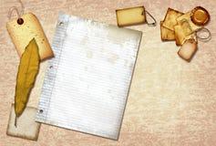 Documento di scarto dell'annata Fotografie Stock Libere da Diritti