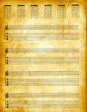 Documento di Tablature della pergamena Immagine Stock Libera da Diritti