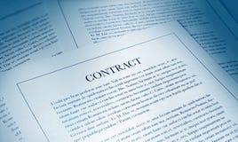 Documento do contrato imagem de stock