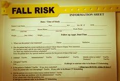 Documento do risco da queda Fotos de Stock Royalty Free