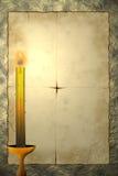 Documento e candela royalty illustrazione gratis
