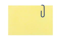 Documento e clip di nota immagine stock