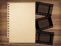 Documento e filmstrips Fotografia Stock Libera da Diritti