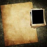 Documento e foto dell'annata Fotografia Stock