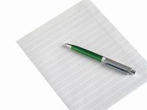 Documento e fountain-pen Fotografia Stock