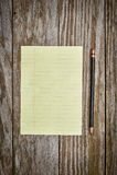Documento e matita fotografia stock