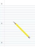 Documento e matita del taccuino Fotografie Stock