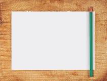 Documento e matita di nota Fotografie Stock Libere da Diritti