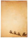 Documento ed il Babbo Natale dell'annata Fotografia Stock Libera da Diritti
