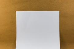 Documento en blanco sobre el vintage de papel de madera de la textura del fondo Imágenes de archivo libres de regalías