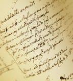 Documento en sepia Imagen de archivo