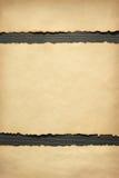 Documento envejecido viejo sobre la madera Foto de archivo libre de regalías