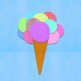 Documento fatto del gelato a disposizione - Immagine Stock