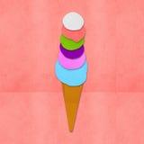 Documento fatto del gelato a disposizione - Immagine Stock Libera da Diritti