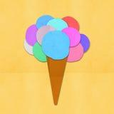 Documento fatto del gelato a disposizione - Fotografie Stock