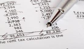 Documento finanziario Fotografia Stock