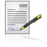 Documento firmado libre illustration