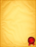 Documento giallo dell'annata Immagini Stock