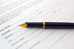 Documento giuridico Immagine Stock