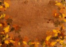 Documento grungy di autunno vecchio Immagine Stock