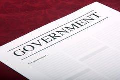Documento gubernamental Imágenes de archivo libres de regalías