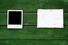 Documento Handmade e foto istante immagine stock libera da diritti