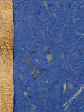 Documento Handmade, lasciato posto con tessuto di massima Immagine Stock
