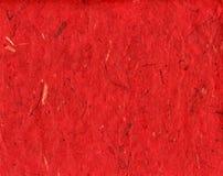 Documento handmade rosso Fotografie Stock