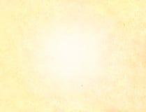 Documento introduttivo leggero dell'oro Fotografia Stock