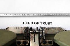 Documento legale di fiducia Immagine Stock