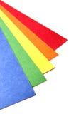Documento luminoso del mestiere di colore immagini stock