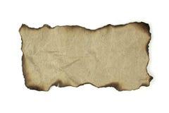 Documento naturale bruciato dei bordi Fotografia Stock
