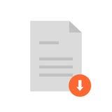 Documento piano di download dell'icona Fotografia Stock