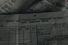 Documento rejeitado - Baía Estado Ferro Empresa não 7 mina - montanhas de Adirondack, New York foto de stock royalty free
