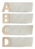 Documento riciclato lettere di alfabeto Fotografie Stock