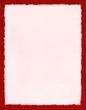 Documento rosado sobre rojo Fotos de archivo libres de regalías