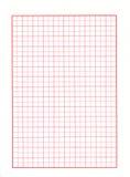 Documento rosso di griglia Fotografia Stock