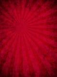 Documento rosso Grungy con il reticolo del raggio luminoso Fotografia Stock
